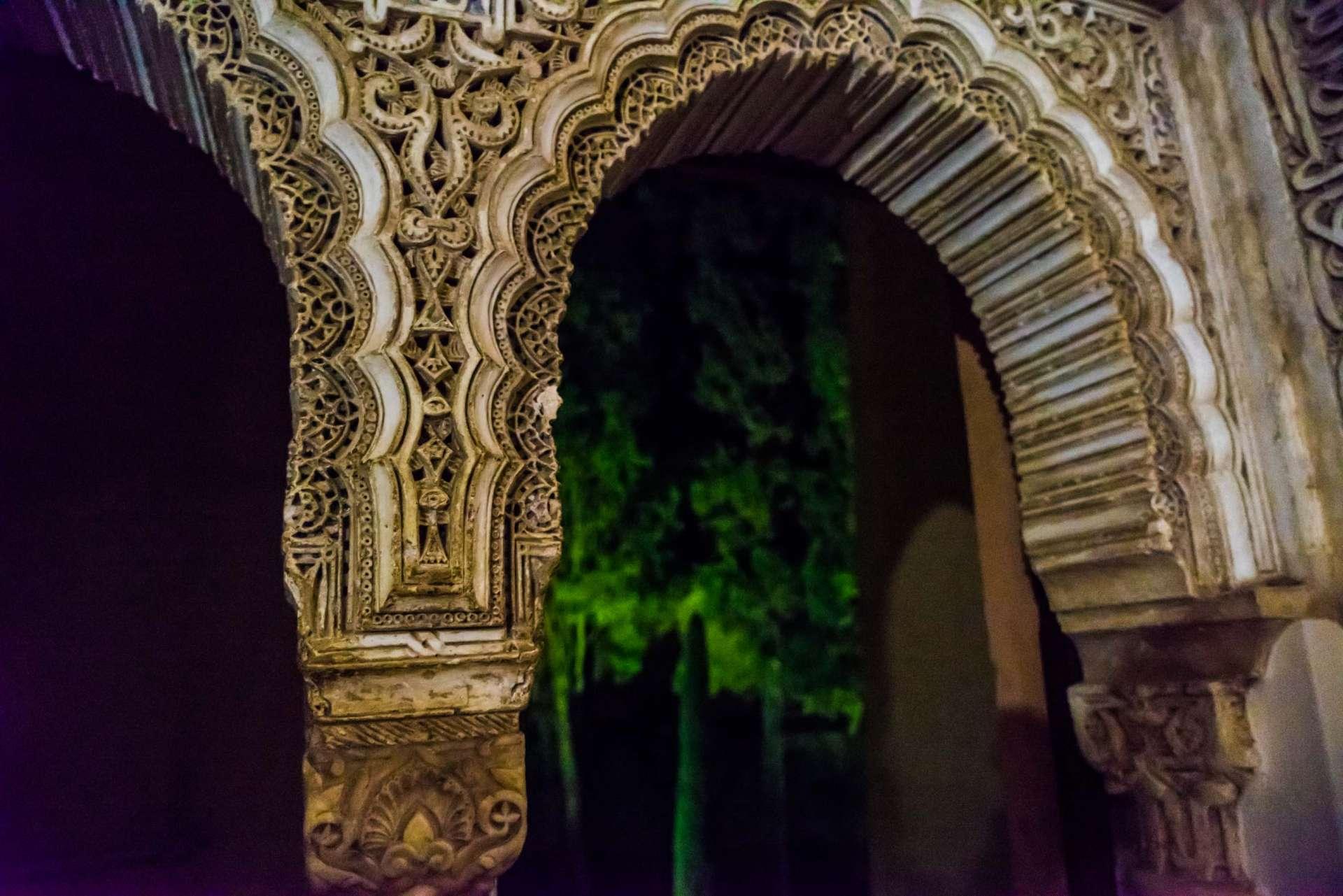 Granada Alhambra - by night details 4
