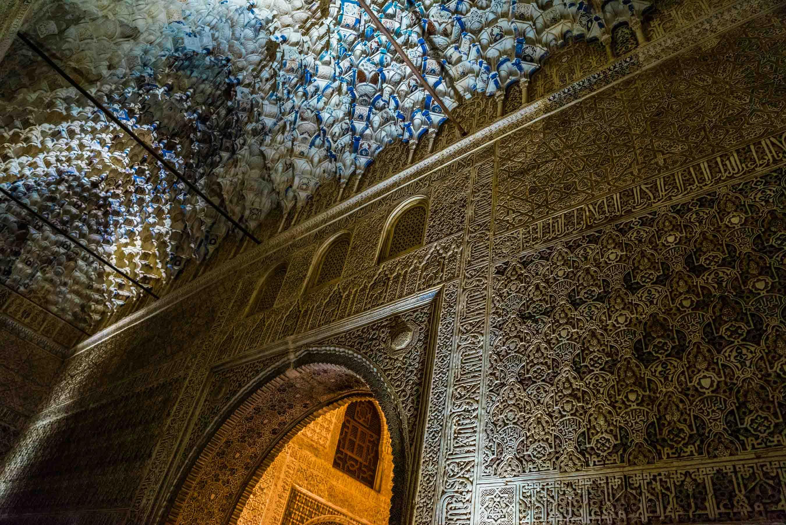 Granada Alhambra - by night - details