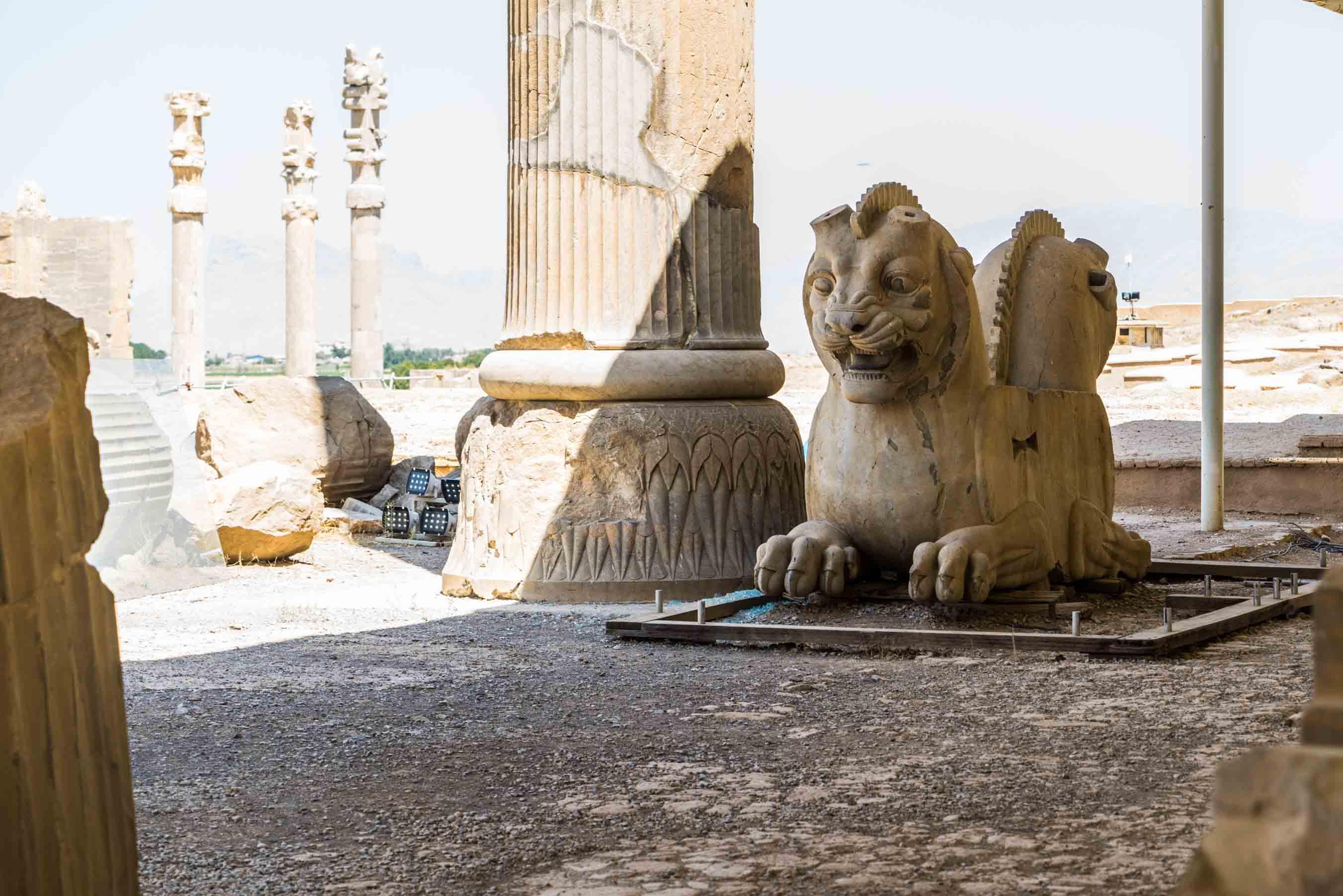 Persepolis Iran - Lion symbol of Persia