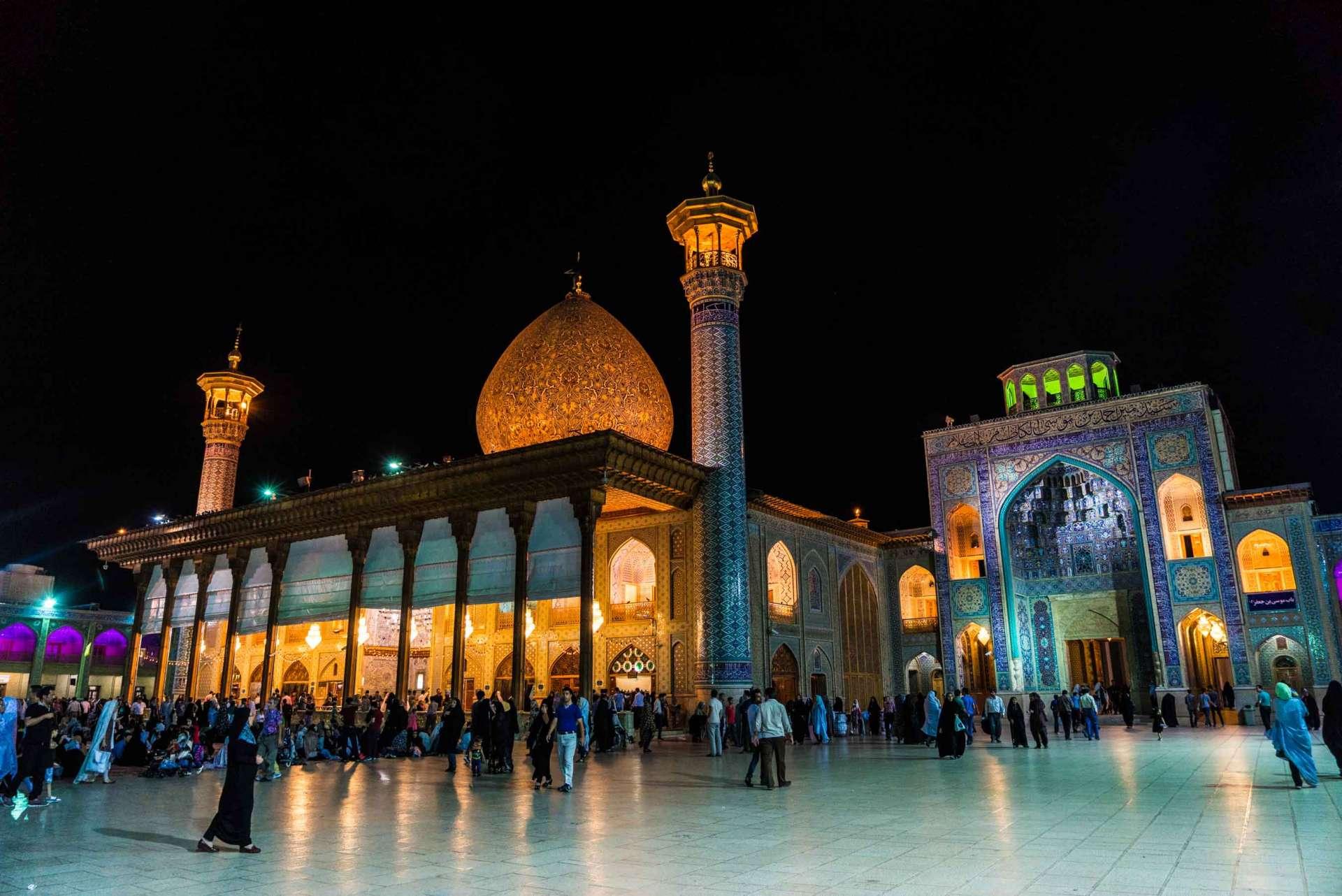 Shiraz Shah Cheragh by night