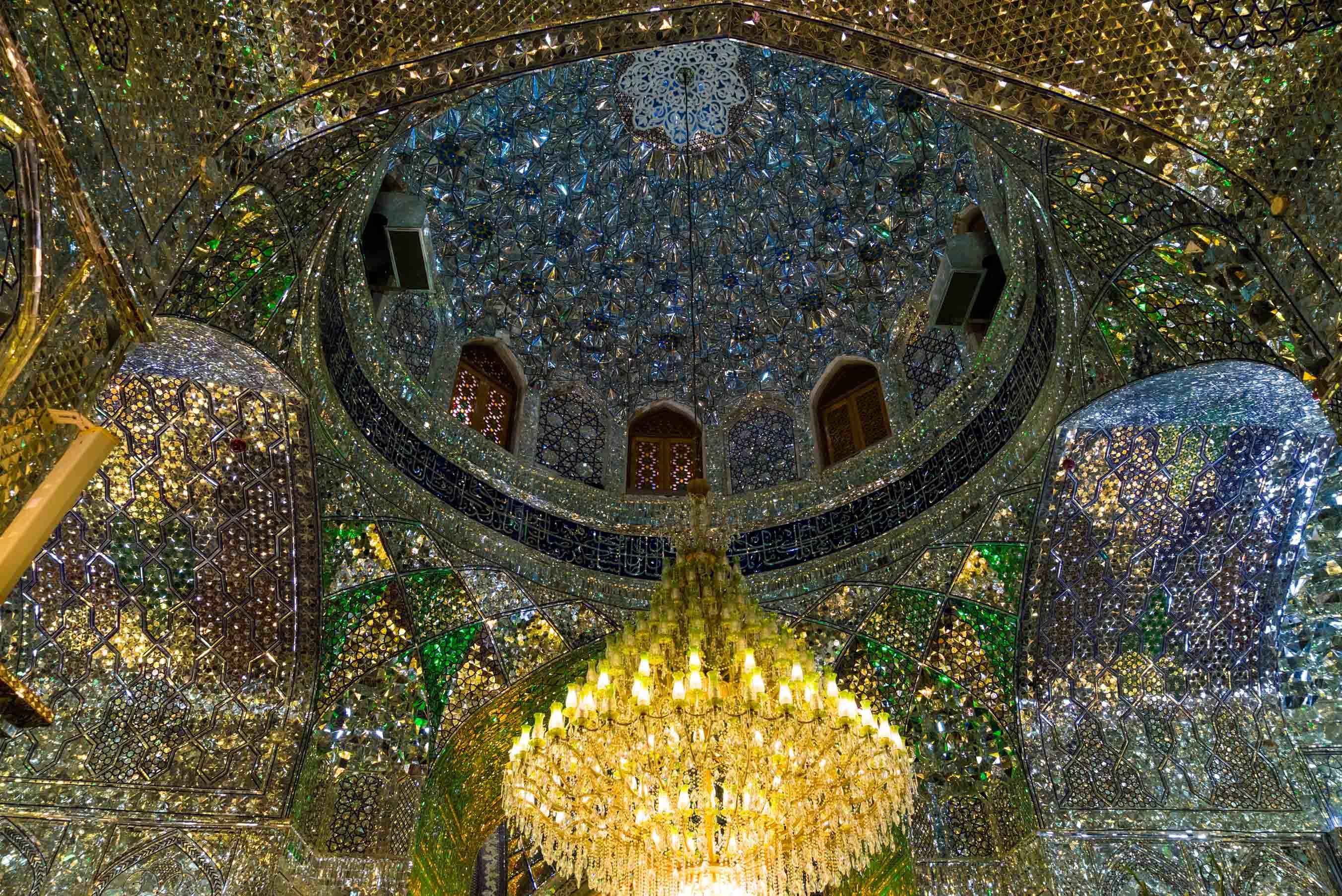 Shiraz Shah Cheragh tomb interior