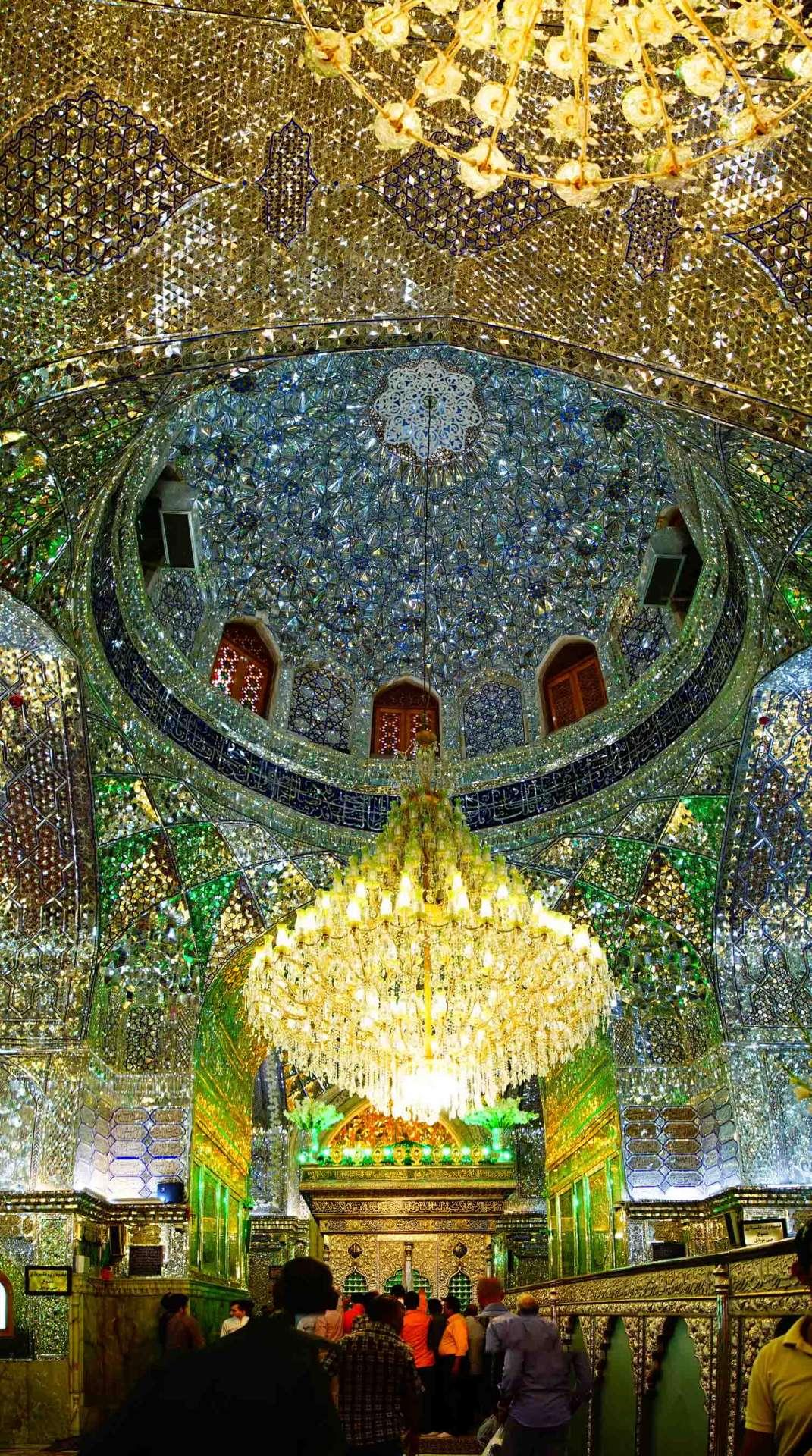 Shiraz Shah Cheragh tomb interior 2