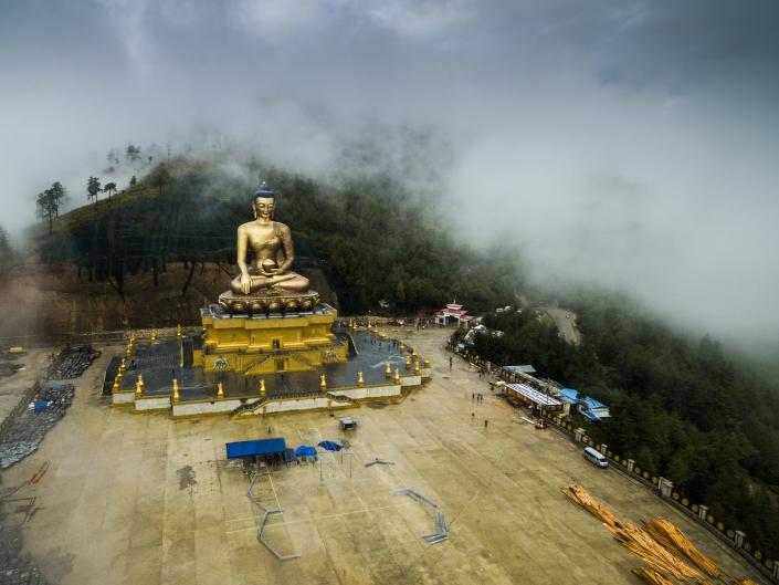 Buddha Dordenma by drone Buddha Dordenma by drone Bhutan pescart enrico pescantini 2