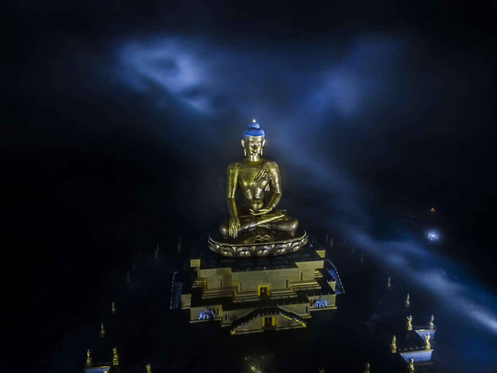 Buddha Dordenma by drone Bhutan pescart enrico pescantini