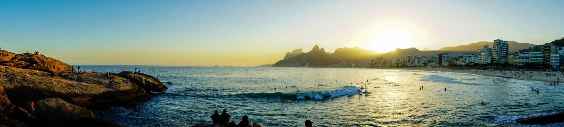 Rio de Janeiro Pescart Enrico Pescantini Ipanema sunset