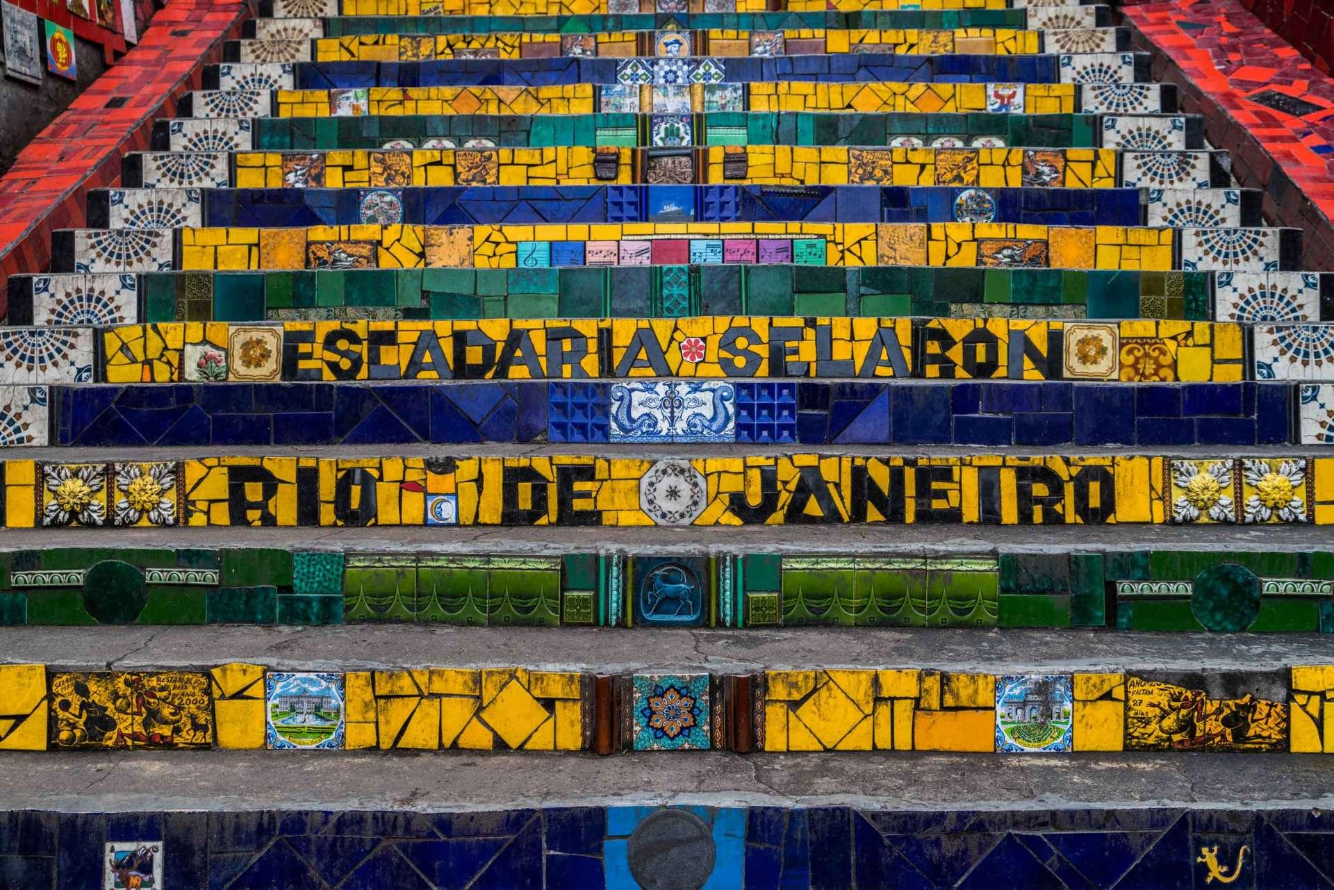 Rio de Janeiro Pescart Enrico Pescantini Escadaria Selaron