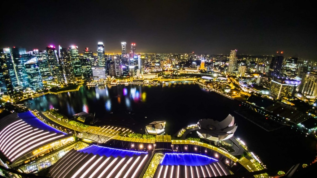 Singapore Pescart Enrico Pescantini Gardens by the Bay Marina Bay Sands c'est la vie view