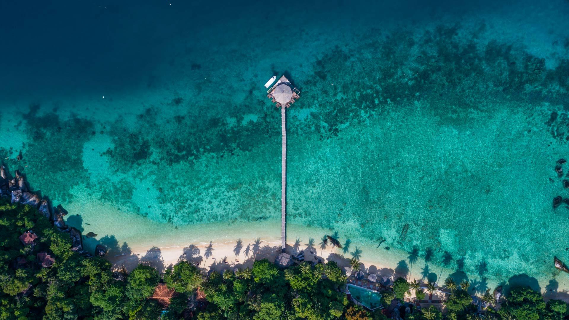 Tioman Island Malaysia Pescart Travel Photo Blog Enrico Pescantini aerial view drone 3