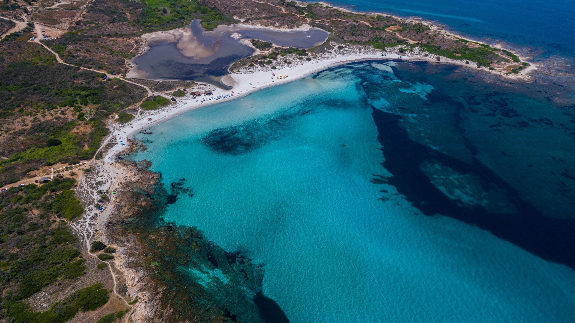 Cala Brandinchi Sardinia Aerial Photography drone Enrico Pescantini