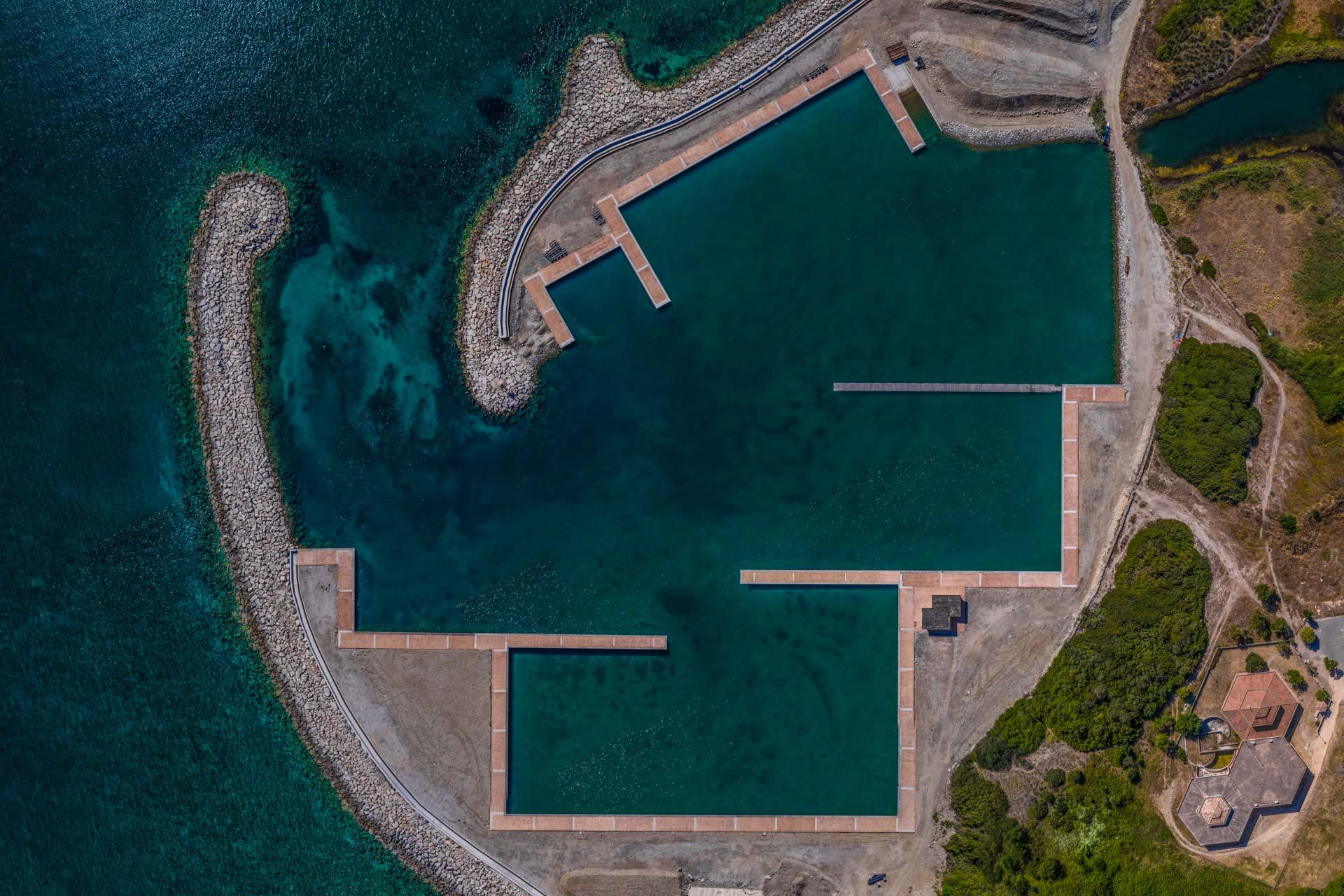 Geometry Port Sardinia Aerial Photography drone Enrico Pescantini