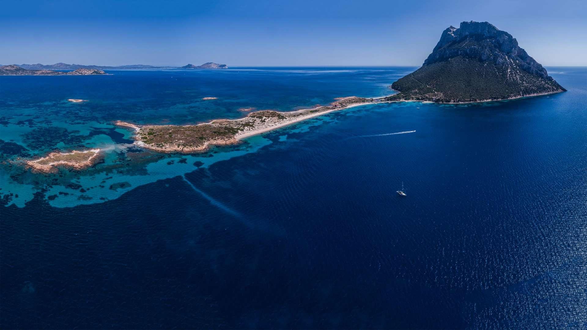 Isola Tavolara Sardinia Sardinia Aerial Photography drone Enrico Pescantini