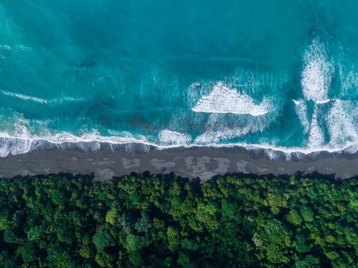 Carate Beach Costa Rica From Above Enrico Pescantini