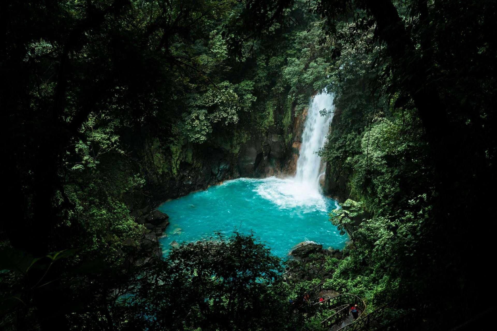 Costa Rica Enrico Pescantini Pescart Rio Celeste Waterfall