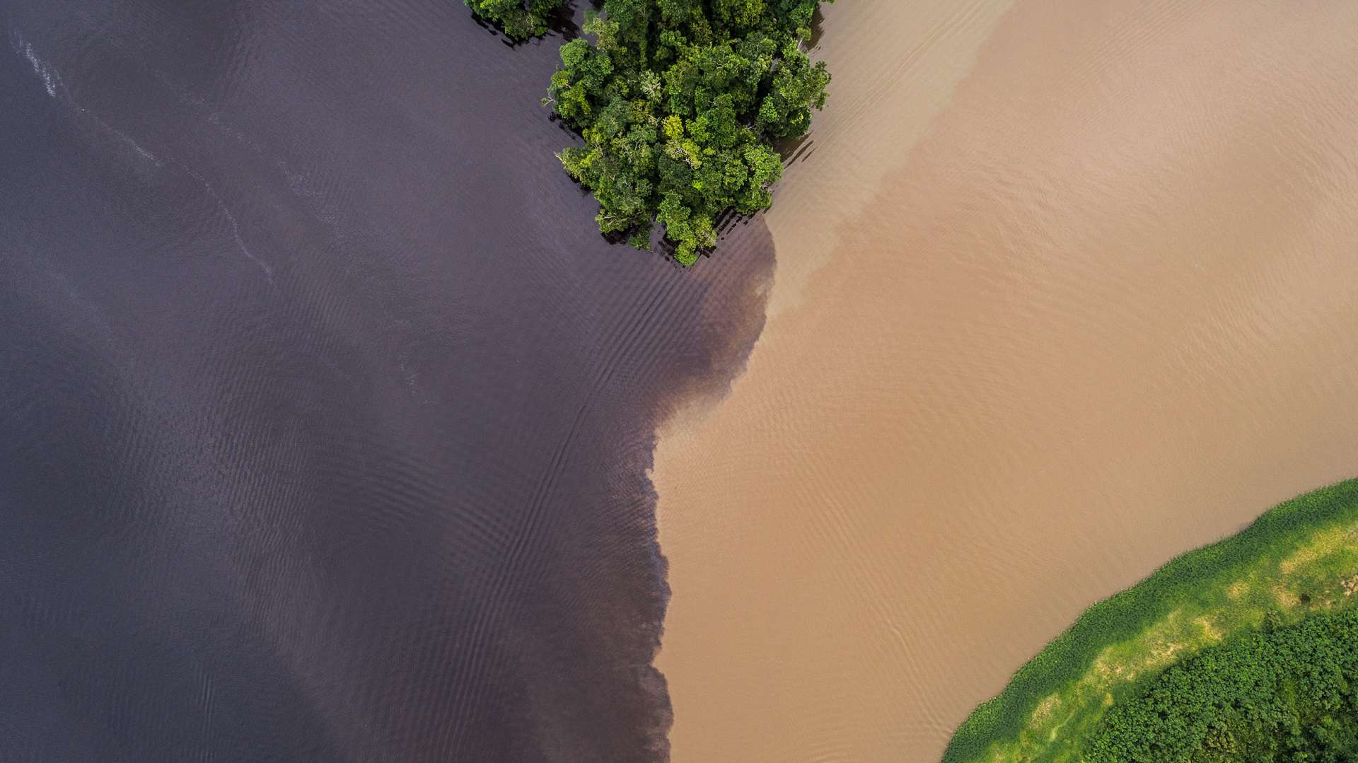 Rivers Collision Costa Rica From Above Enrico Pescantini
