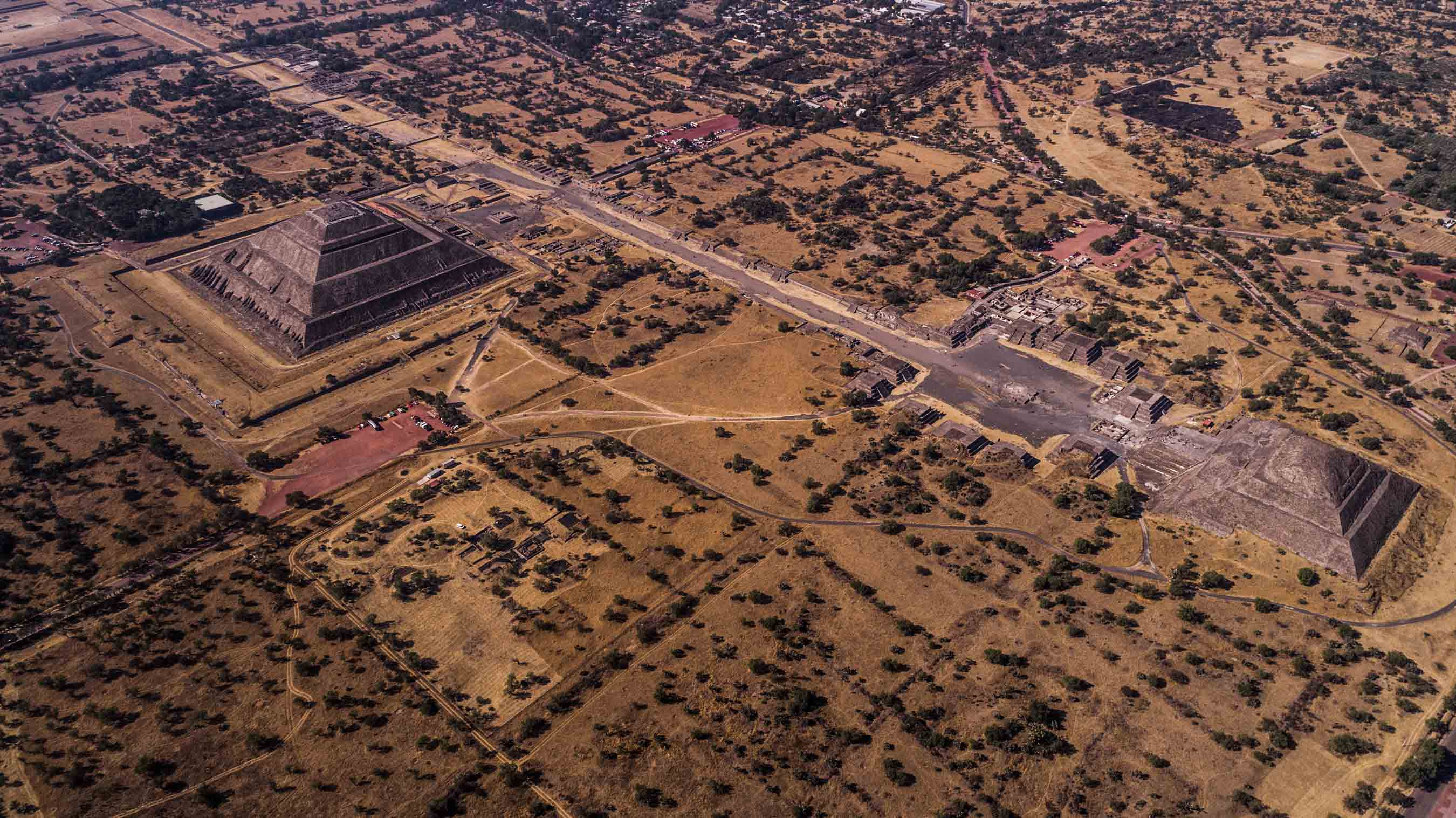 Teotihuacan Pyramids from Above - Enrico Pescantini Photography