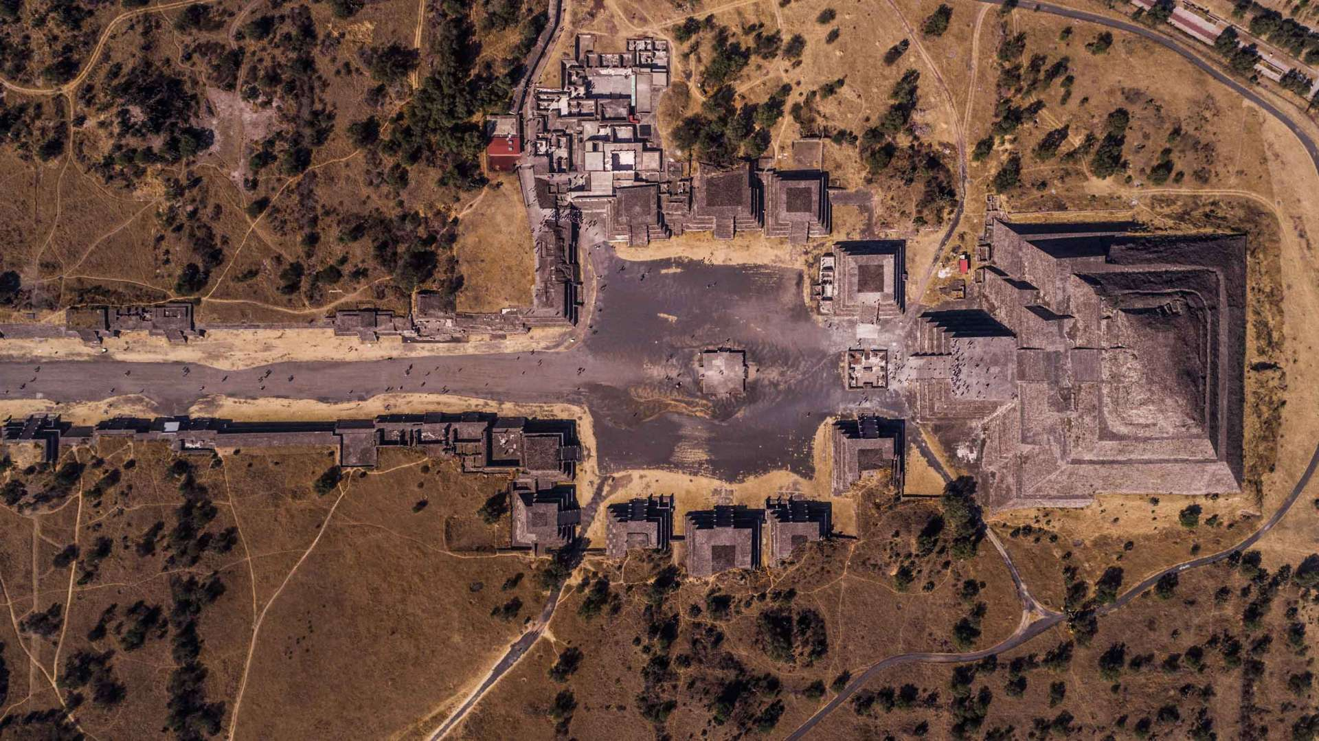 Teotihuacan Pyramid of the Moon from Above - Enrico Pescantini Photography