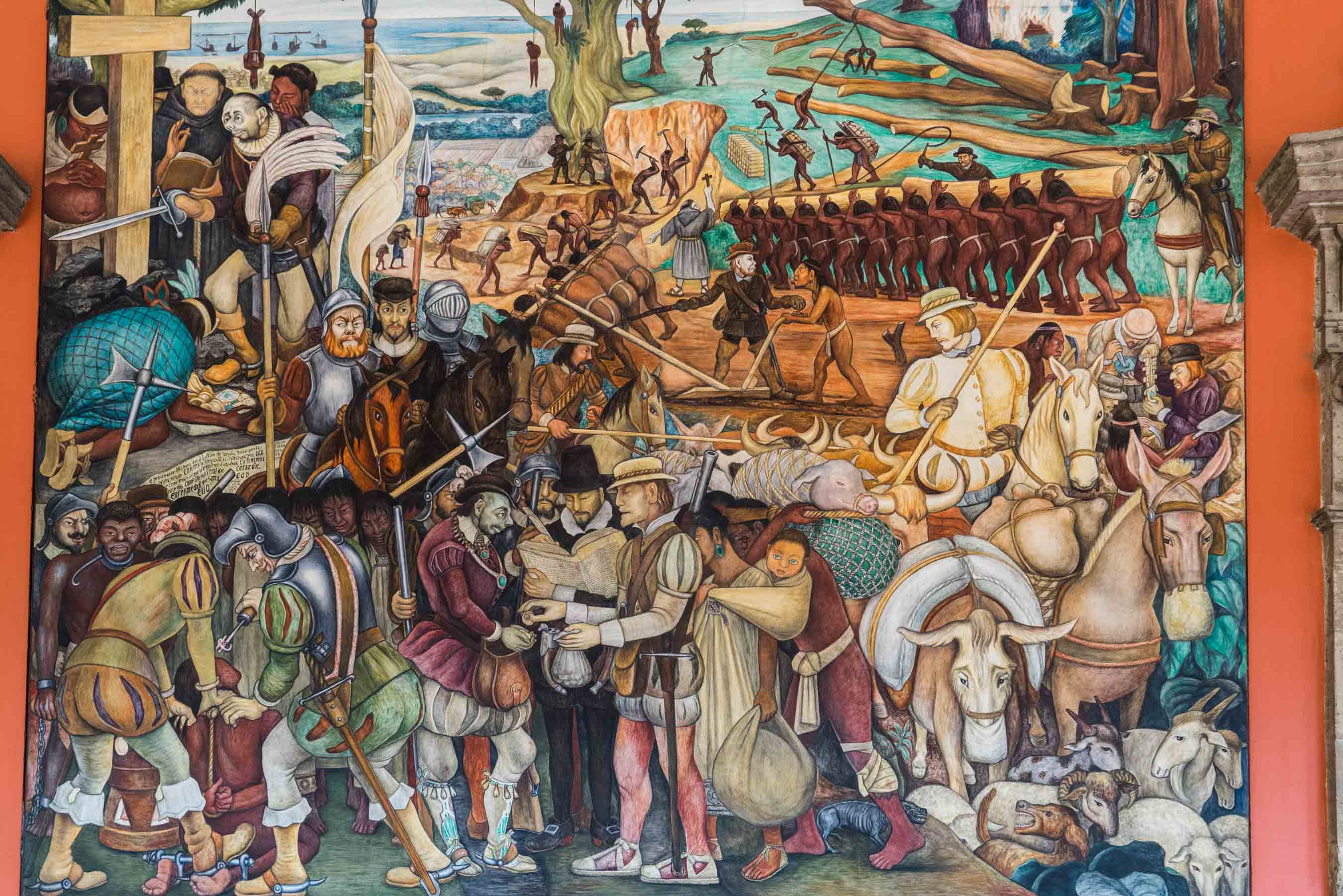 Palacio Nacional Diego Rivera mural Enrico Pescantini travel photographer 2
