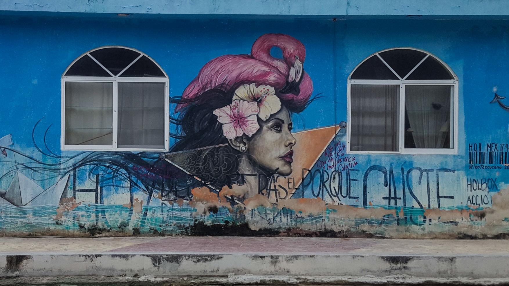 Isla Holbox Island Mexico Enrico Pescantini Pescart Travel Blog Graffiti wall art 7