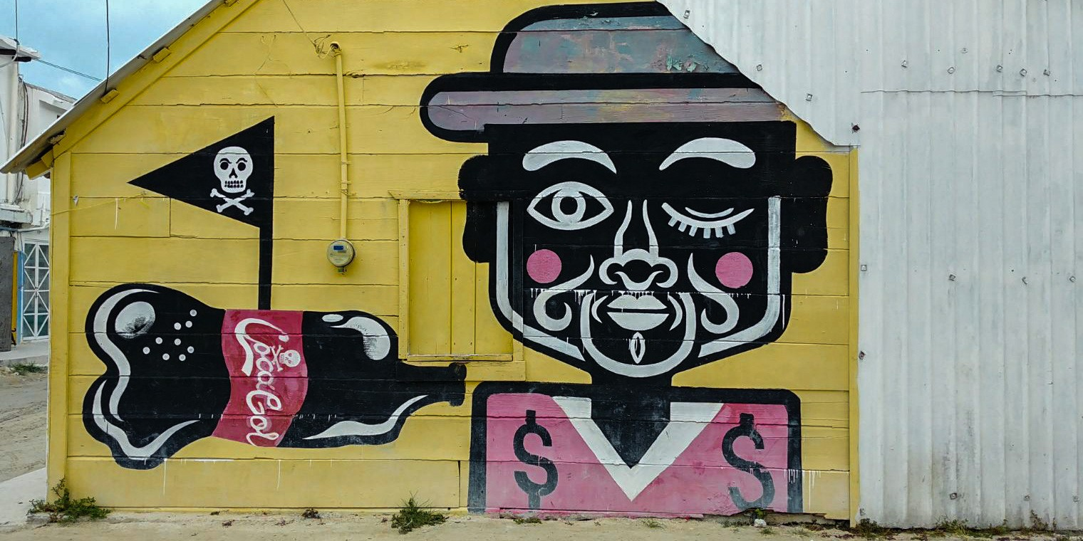 Isla Holbox Island Mexico Enrico Pescantini Pescart Travel Blog Graffiti wall art
