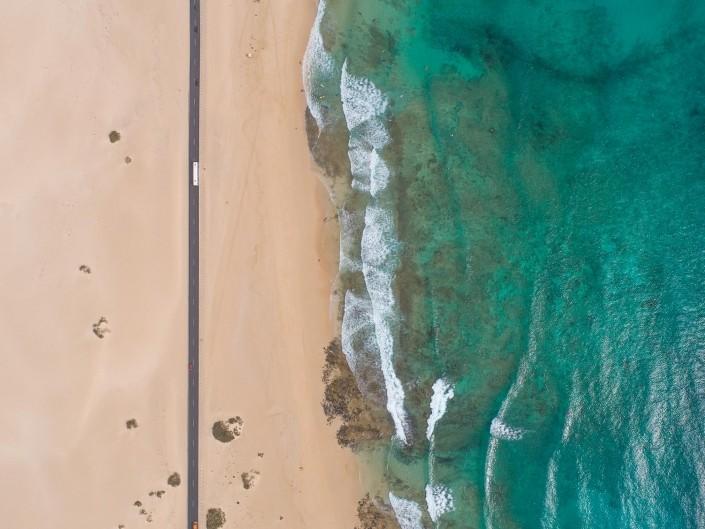 Fuerteventura Corralejo Dunes Park road 4