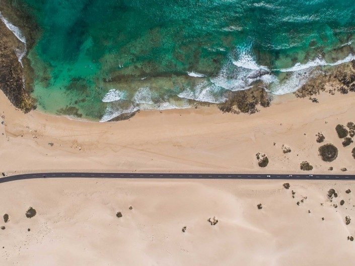 Fuerteventura Corralejo Dunes Park road 1