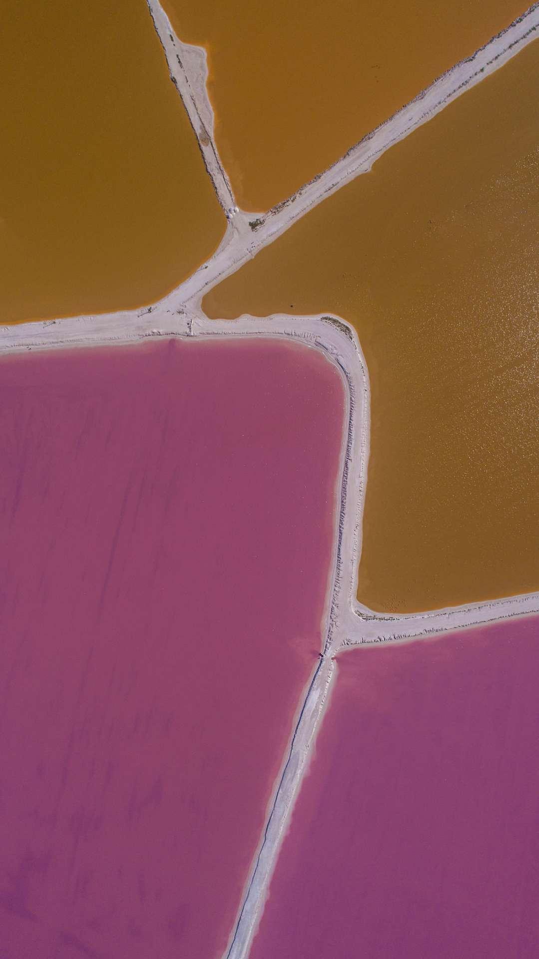 Pink lagoons Las Coloradas Yucatan Mexico Aerial View by drone Enrico Pescantini 3