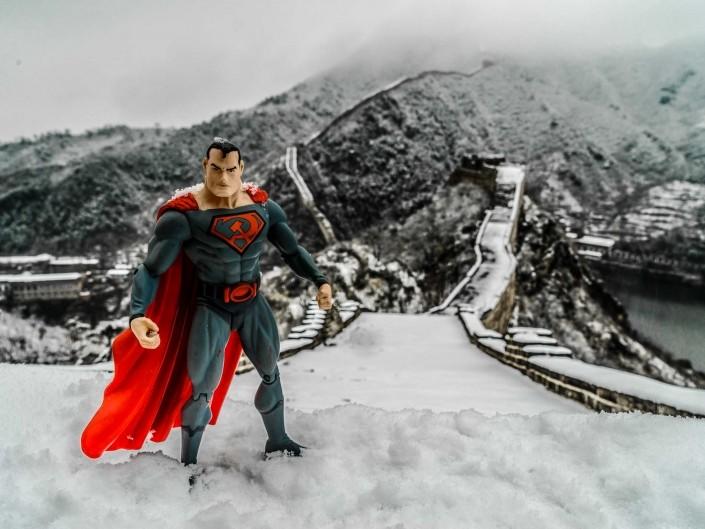 A Red Superhero in North Korea Enrico Pescantini Grande Muraglia Cinese superman in north korea