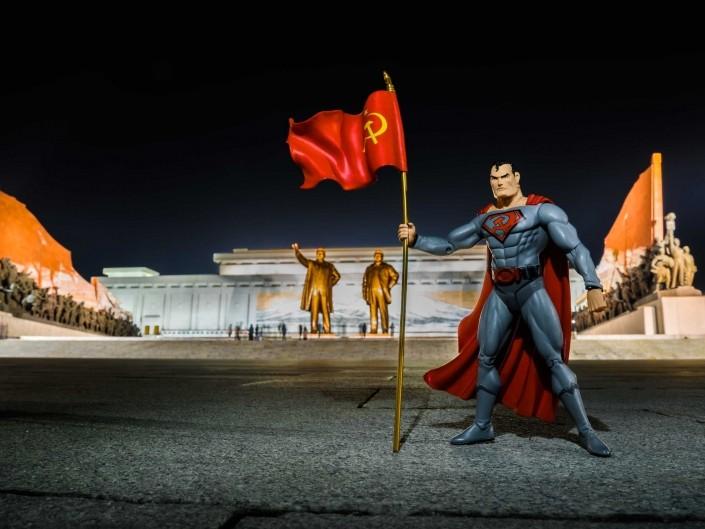 A Red Superhero in North Korea Enrico Pescantini Monumento di Mansu Hill superman in north korea