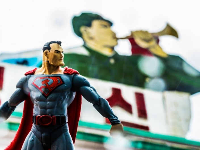 A Red Superhero in North Korea Enrico Pescantini Piazza Kim Il-Sung superman in north korea