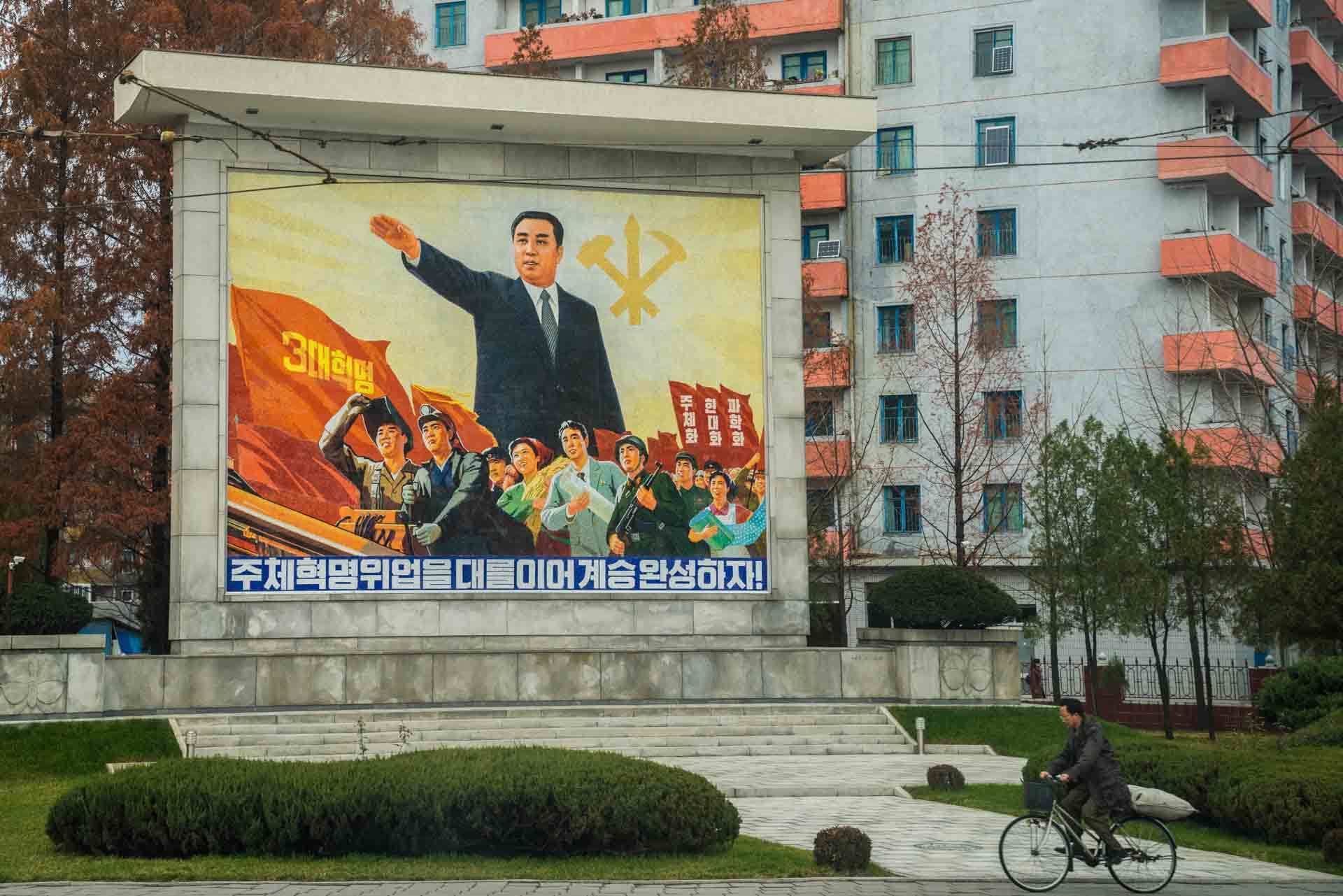 A Red Superhero in North Korea Enrico Pescantini pyongyang propaganda art 2