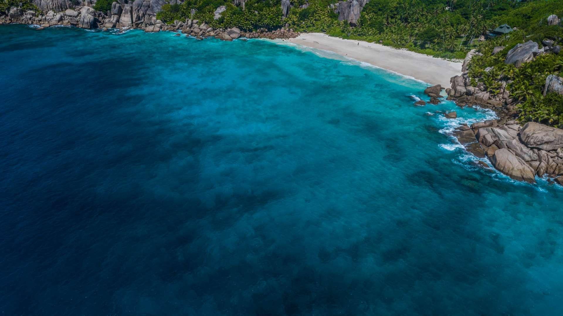 Seychelles Grande Soeur Big Sister Island aerial view drone enrico pescantini from above