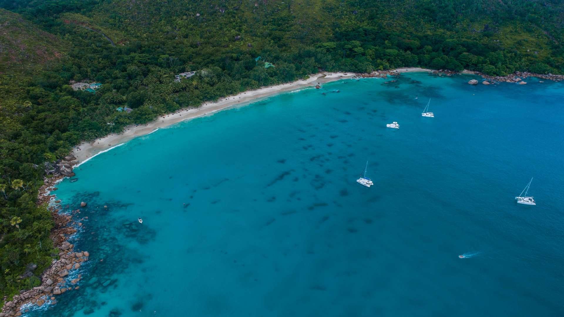 Seychelles Anse Lazio aerial view drone enrico pescantini from above 2