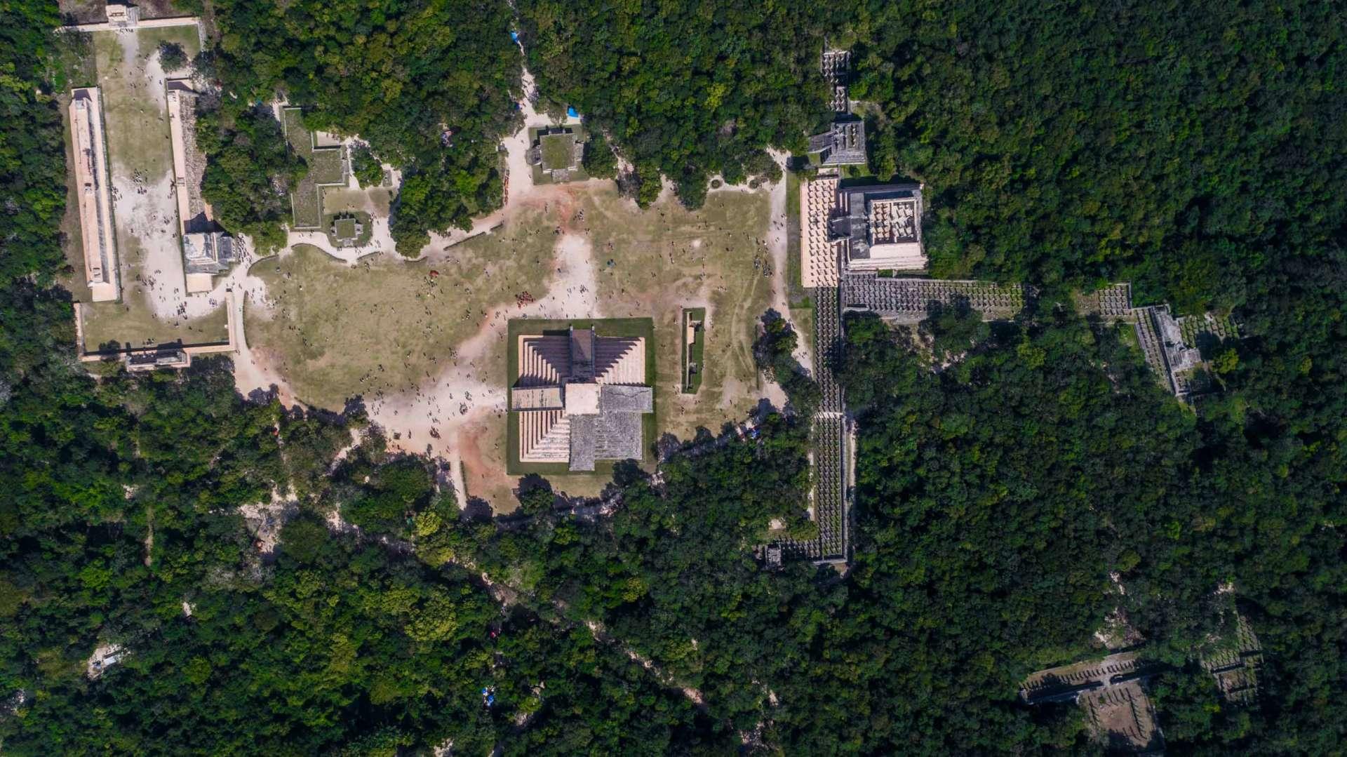 Chichen Itza by drone aerial shot Enrico Pescantini