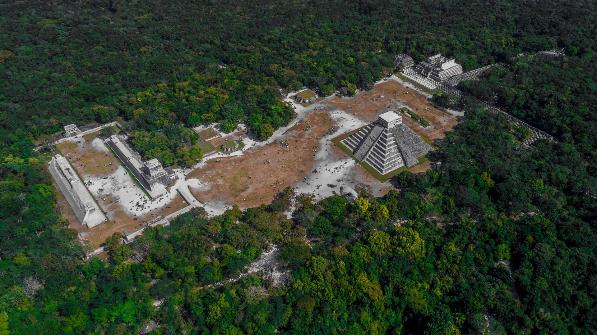 Mayan Age of Empires Chichen Itza by drone aerial shot Enrico Pescantini