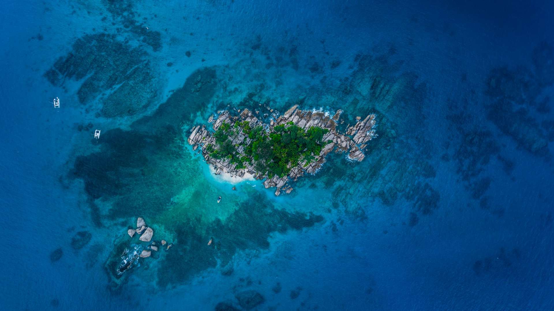 Seychelles Coco Island Isla drone aerial view enrico pescantini from above