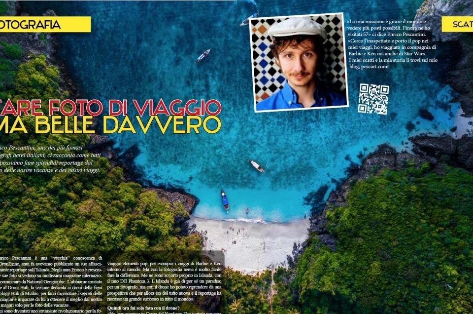 Come scattare bellissime foto di viaggio con i droni – Articolo su Dronezine