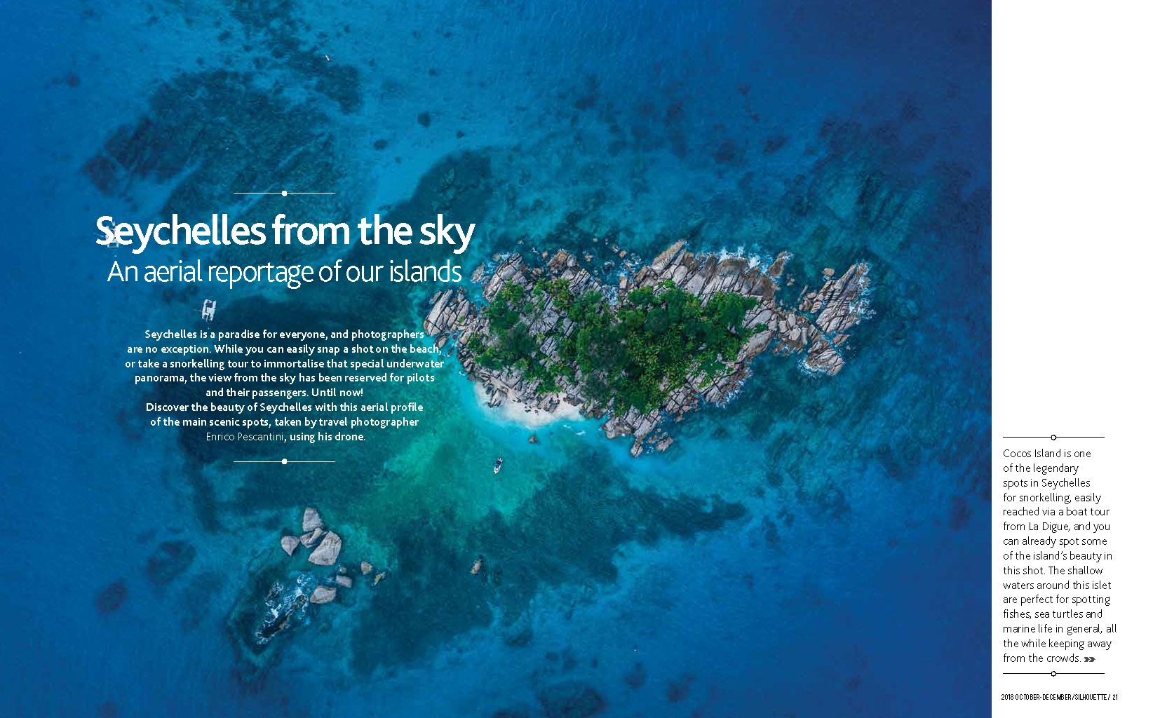 Seychelles From Above Air Seychelles Silhouette inflight magazine drone reportage enrico pescantini