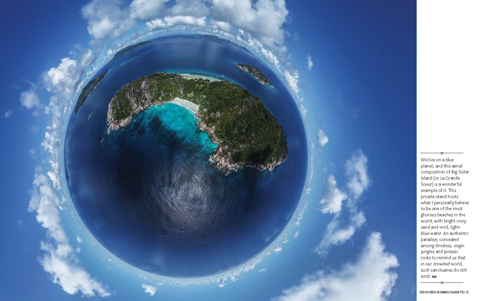 Seychelles From Above Air Seychelles Silhouette inflight magazine drone reportage enrico pescantini blue planet