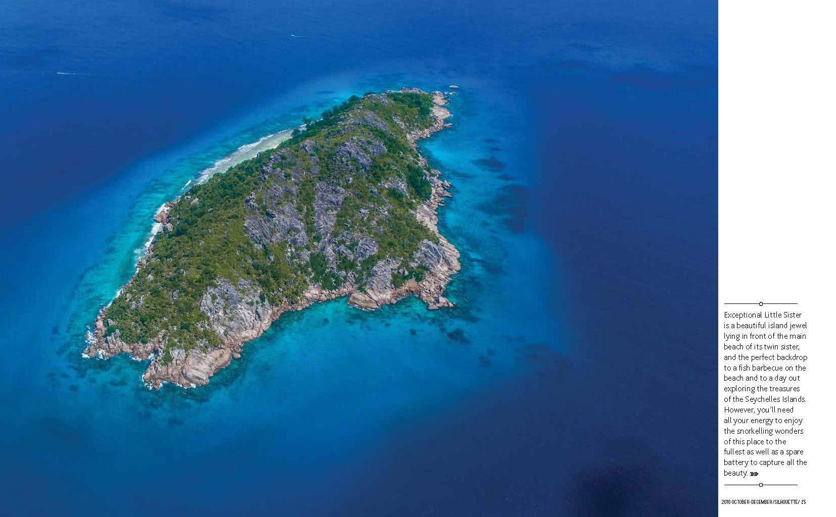 Seychelles From Above Air Seychelles Silhouette inflight magazine drone reportage enrico pescantini blue planet big sister island