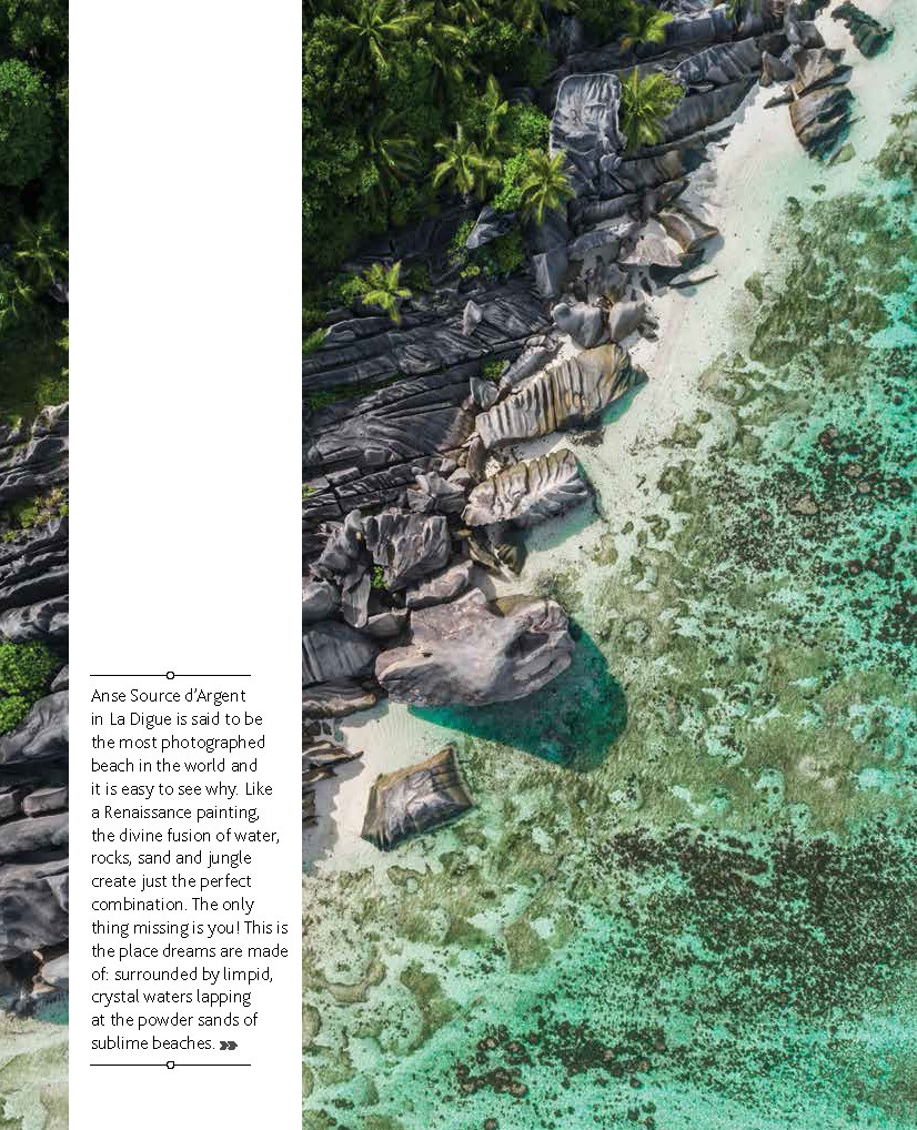 Seychelles From Above Air Seychelles Silhouette inflight magazine drone reportage enrico pescantini anse source d'argent