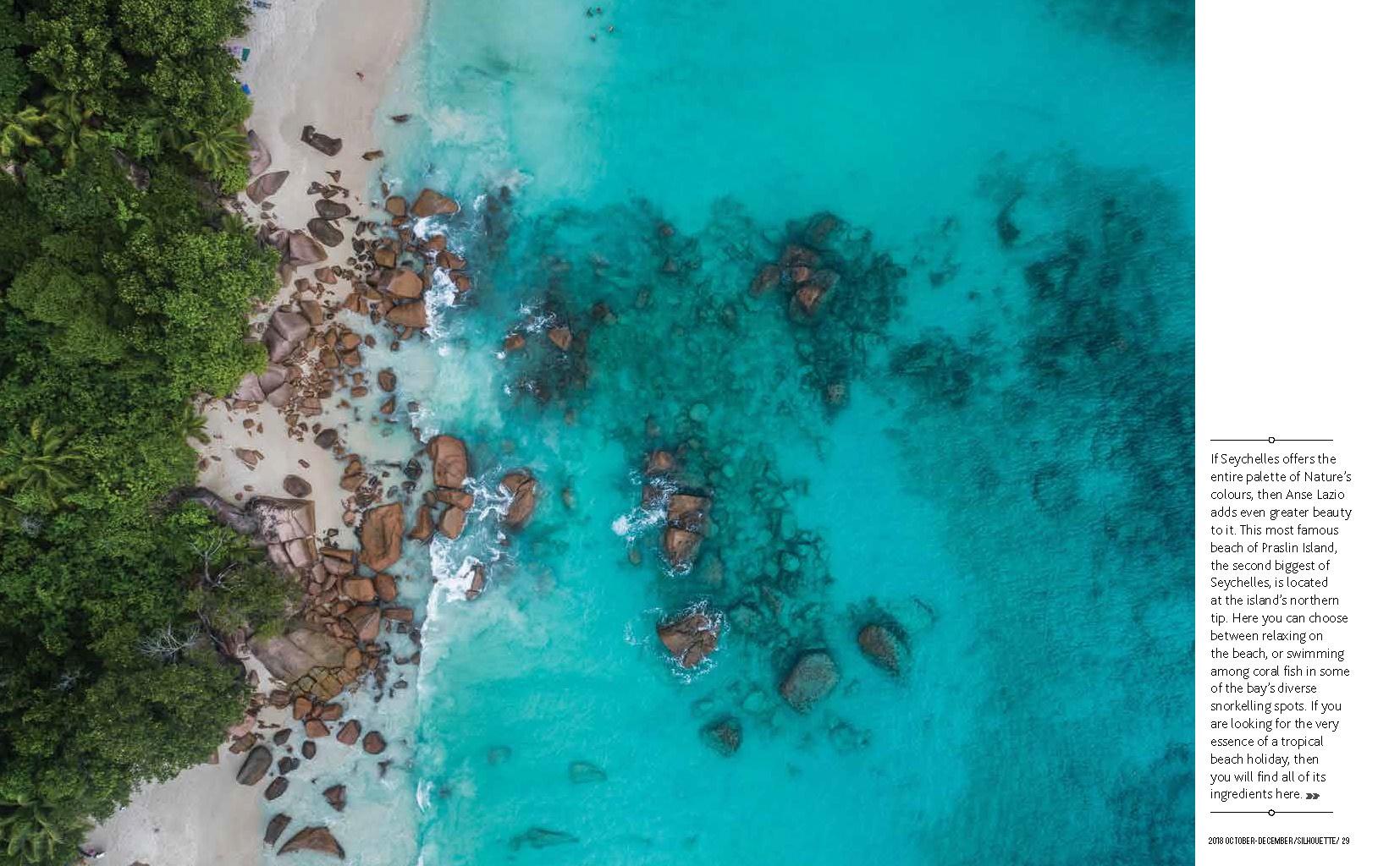 Seychelles From Above Air Seychelles Silhouette inflight magazine drone reportage enrico pescantini blue planet anse lazio