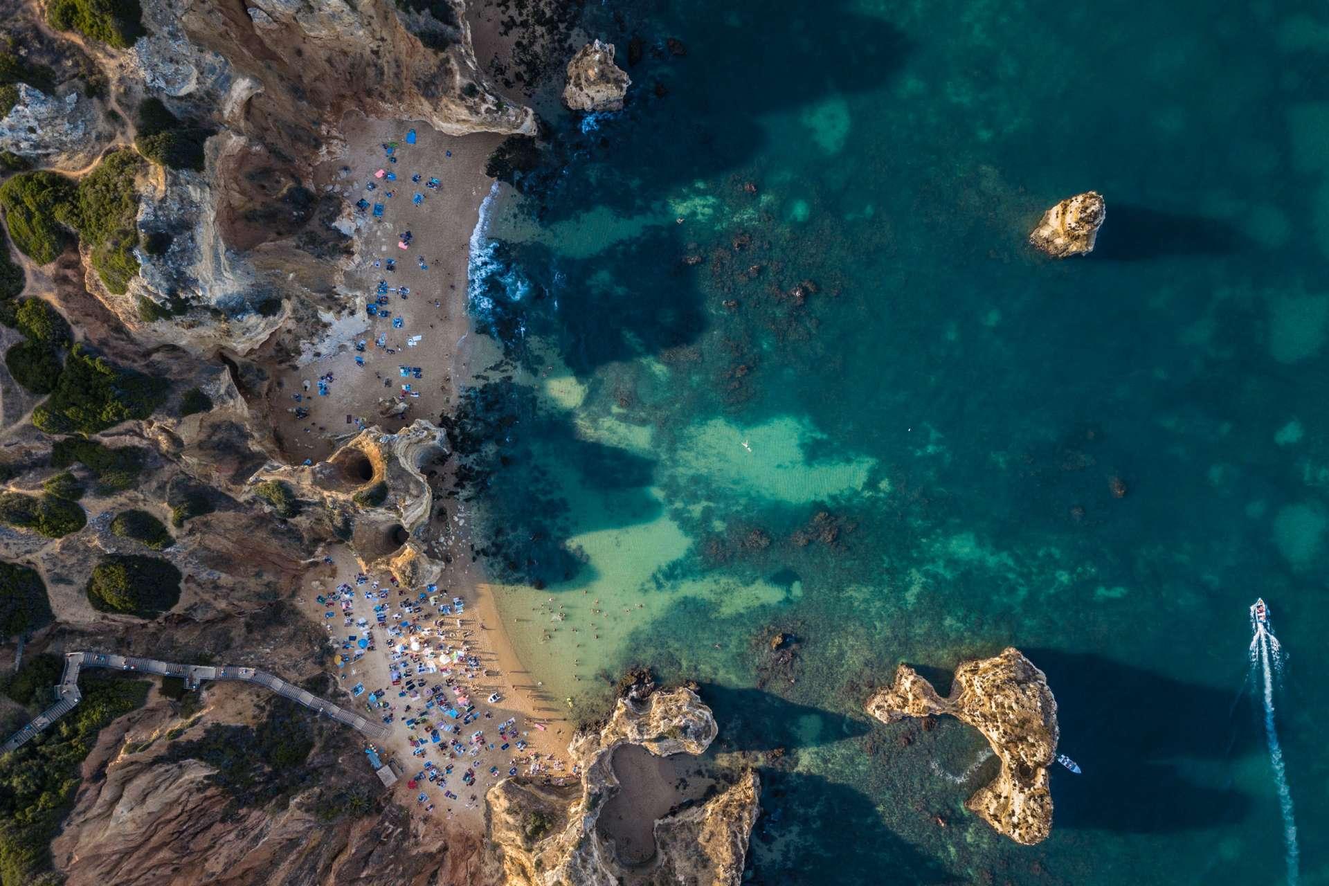 Algarve From Above Drone Photography Enrico Pescantini Praia do Camilo + praia da boneca