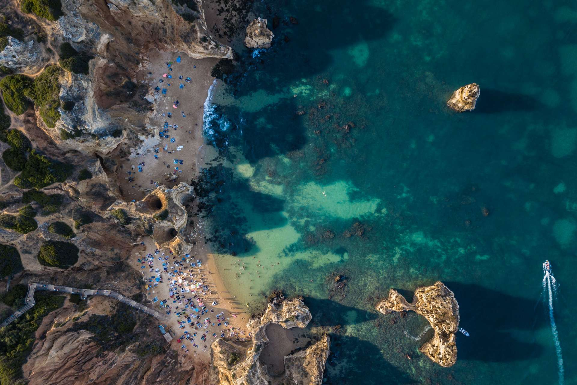 Algarve From Above Drone Photography Enrico Pescantini Praia do Camilo + praia da boneca