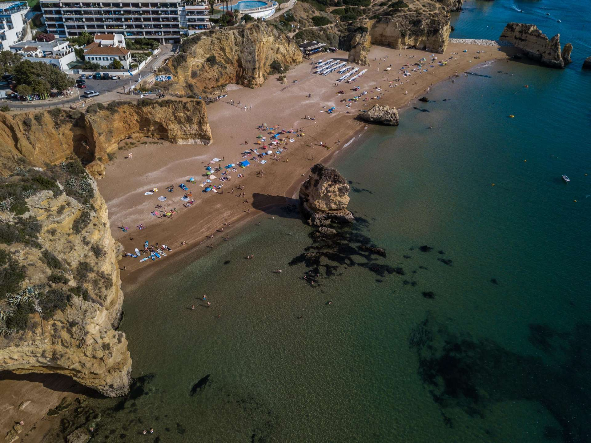 Algarve From Above Drone Photography Praia Dona Ana