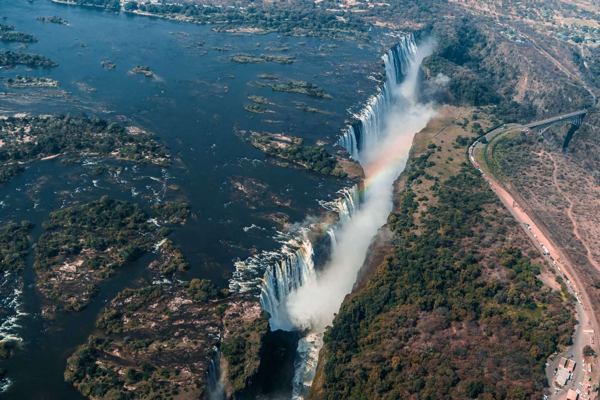 Victoria Falls Zimbawe Enrico Pescantini Flight of Angels Helicopter Tour From Above Aerial