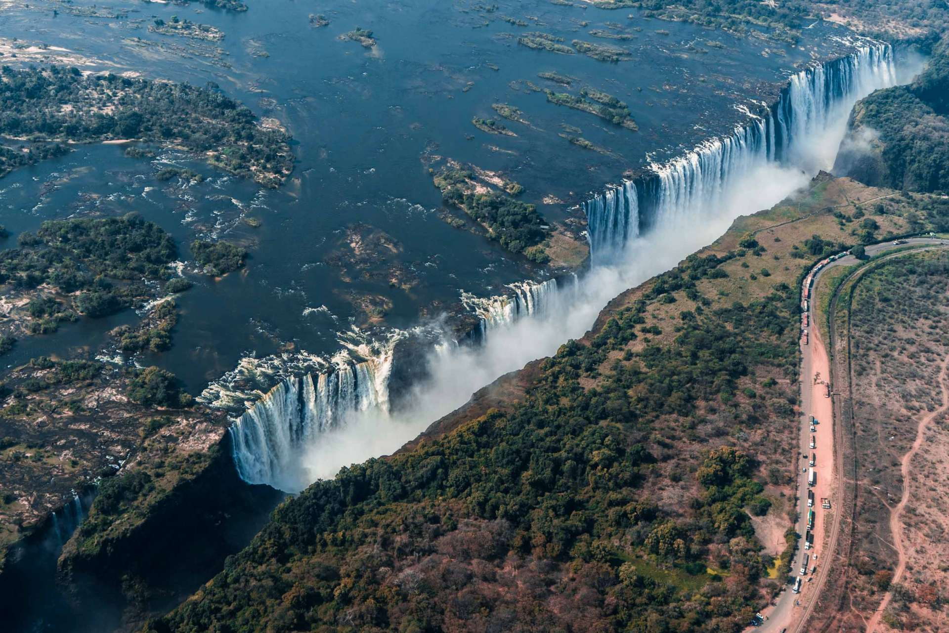 Victoria Falls Zimbawe Enrico Pescantini Flight of Angels Helicopter Tour From Above Aerial 2