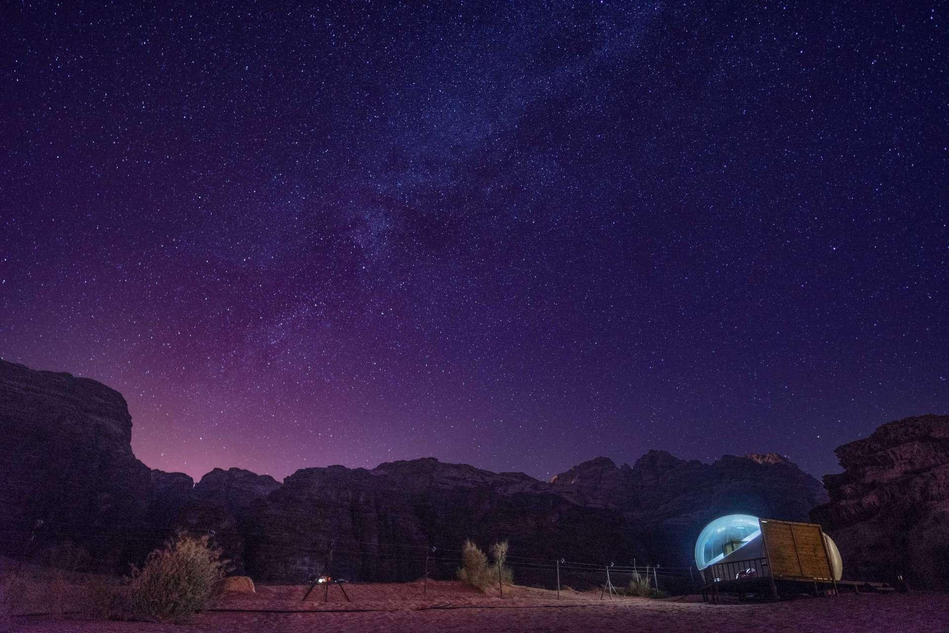 Wadi Rum Night Luxury Camp Full of Stars tent Jordan Enrico Pescantini stargazing stars milky way 3