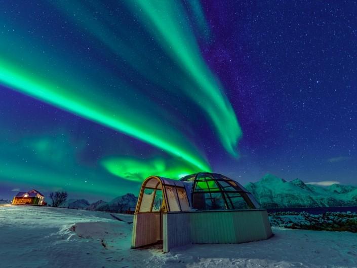 Northern Lights Glass Igloo Tromso Lyngen North enrico pescantini