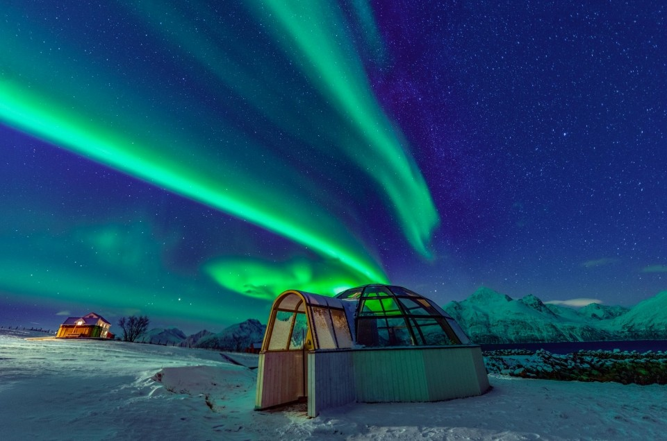 Northern Lights in Tromso: watching aurora from a glass igloo!