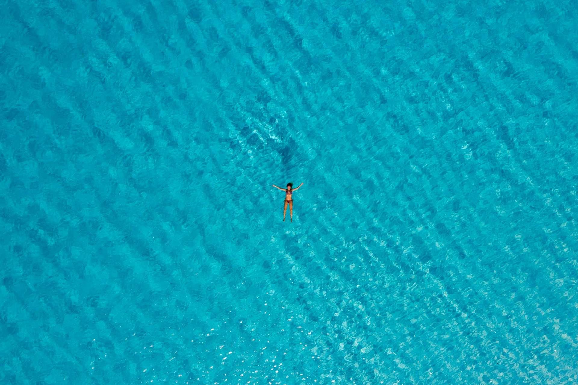 Bahamas Long Island Cape Santa Maria Beach by drone 3